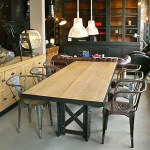 Table A Manger Industrielle : table manger industrielle les nouveaux brocanteurs ~ Teatrodelosmanantiales.com Idées de Décoration