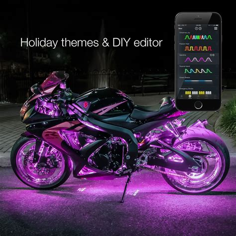 Led Motorcycle Lights by Xkchrome Ios Android App Bluetooth Advanced 14 Pod