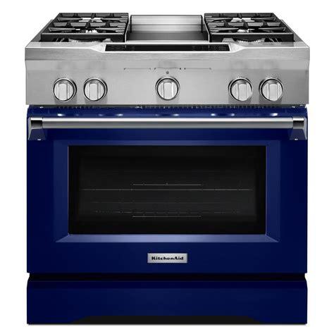 kitchenaid range kitchenaid 36 in 5 1 cu ft dual fuel range with