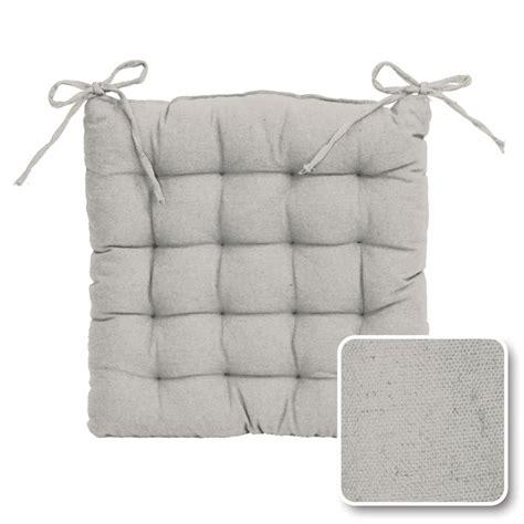 dessus de chaise pas cher galette de chaise gris pas cher