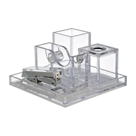 set de bureau palaset accessoires de bureau transparent acrylique