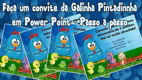 Moldura Convite Galinha Pintadinha Convite Collection