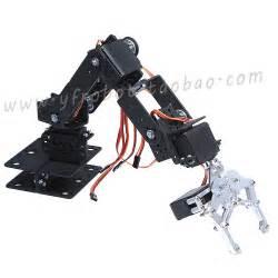 Aluminio 6DOF mecánica robótica brazo de fijación de la garra del robot kit de montaje