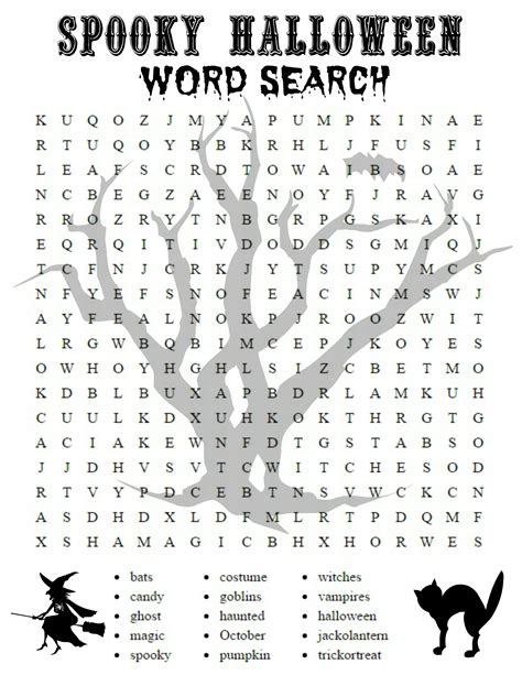 halloween word search festival collections