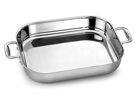 pan stainless steel lasagna clad roasting pans inch