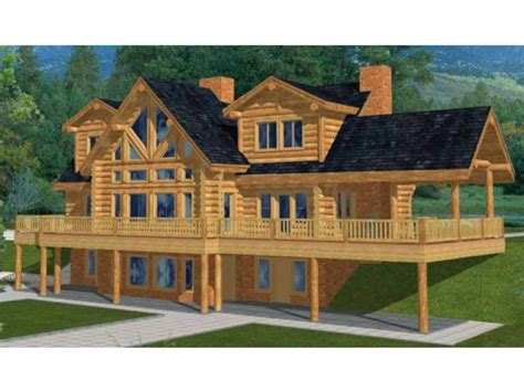 Log Cabin In The Woods Two Story Log Cabin House Plans, 5