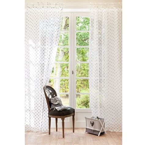 rideau 224 nouettes 224 pois en lin gris et blanc linge de