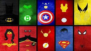 Superheroes Logos Wallpapers - Wallpaper Cave
