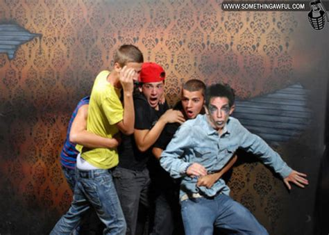 Photoshopped Haunted House Freak Out Reactions 54 Pics