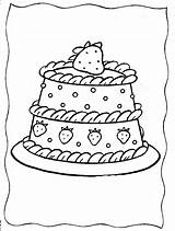 Coloring Strawberry Shortcake Printable Cake Colouring Strawberries Adult Popular Cupcake Library Clipart Fruit Coloringhome sketch template