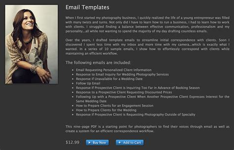 photographer email templates want to spend less time with email