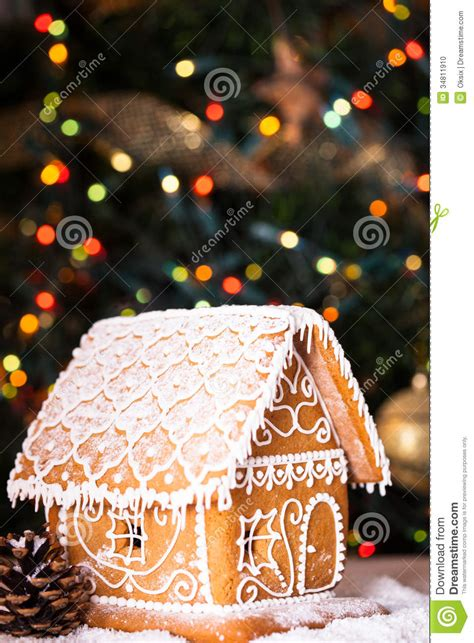 Gingerbread House Stock Photo Image