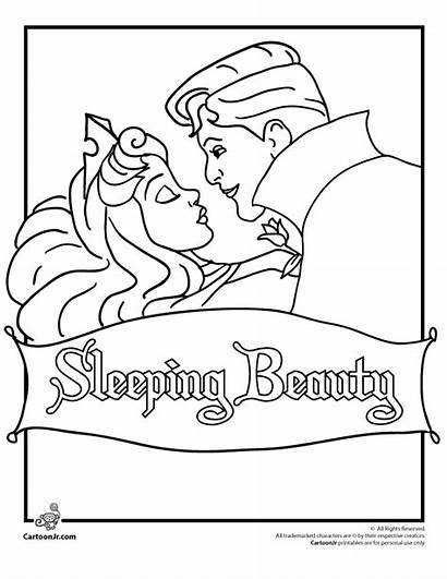 Sleeping Coloring Beauty Pages Disney Princess Cartoon