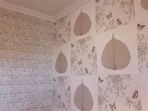 Tapisser Avec 2 Papiers Differents : patchwork de papier peint ~ Nature-et-papiers.com Idées de Décoration