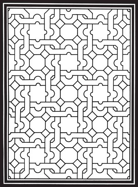 geometric genius stained glass coloring book coloring