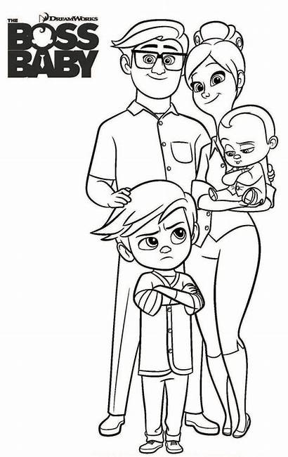 Boss Coloring Pages Sheets Film Parents Animated