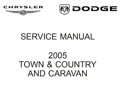 download car manuals pdf free 2005 chrysler town country parking system chrysler rs town country caravan and voyager 2005 service manual chassis pdf online download