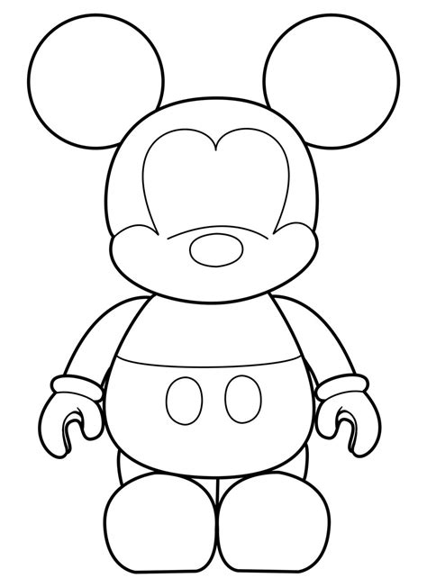 Mickey Mouse Shape Template by Mickey Vinylmation Template By Errantscarecrow On Deviantart