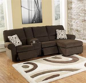 Cybertrack chocolate power reclining sectional by for Sectional recliner sofa with cup holders in chocolate microfiber