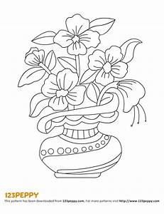 How to draw flowers in a vase step by step easy