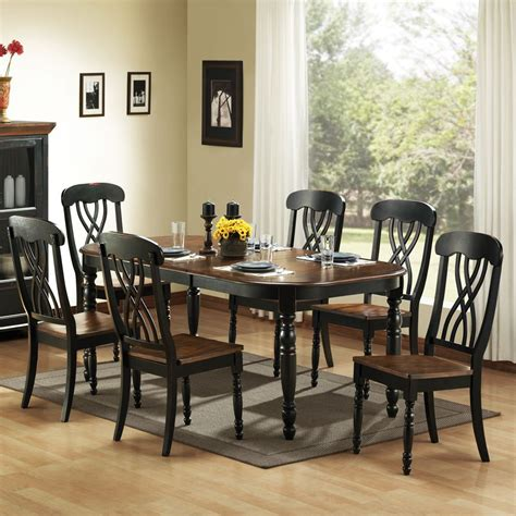 country kitchen dining sets oxford creek 7pc casual country dining set home 6054