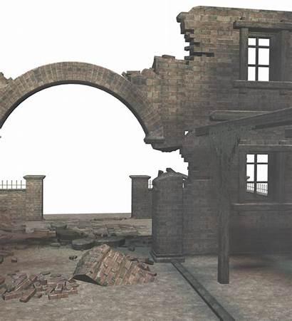 Ruins 3d Abandoned Deviantart Places Buildings Castles