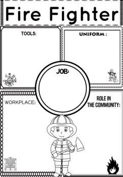 community helper graphic organizers worksheets fire