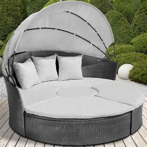 stunning salon de jardin lit sofa rond contemporary With awesome canape resine tressee exterieur 14 lit de jardin lit de jardin resine lit de jardin pas