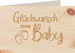 Myzirbe, Holzkarte, -, Gl, U00fcckwunsch, Zum, Baby, F, U00fc, U00dfe