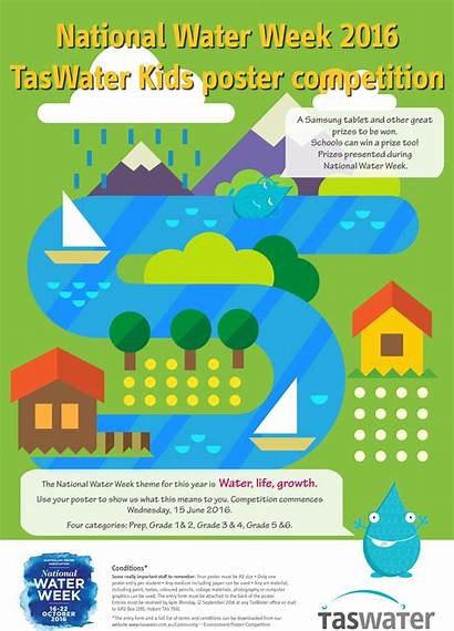 Poster Water Week Competition National Taswater Environment