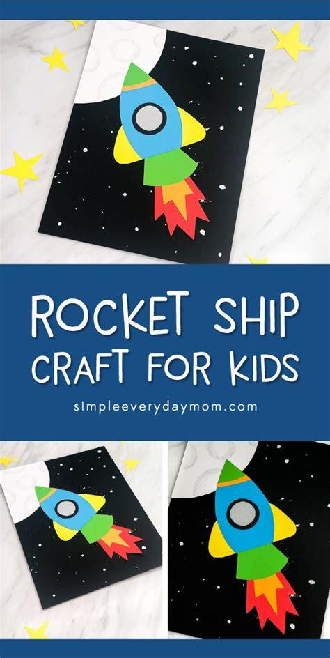 simple fun rocket craft  kids space crafts  kids