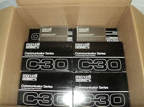 c30 cassette maxell c30 professional industrial communicator series
