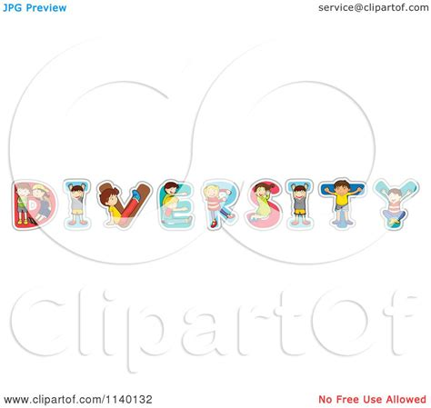 Cartoon Of Letter Children Forming The Word DIVERSITY ...