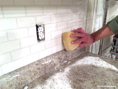 How To Install Backsplash Tile In Kitchen by How To Install A Kitchen Backsplash Do It Yourself Diy