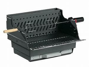 Barbecue A Poser : barbecue charbon en fonte poser avec rotissoir assouan ~ Melissatoandfro.com Idées de Décoration