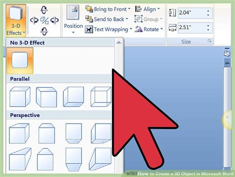 Builder In Microsoft Word by 3 Ways To Create A 3d Object In Microsoft Word Wikihow