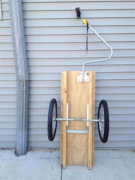 wooden bicycle trailer bike accessories   bike