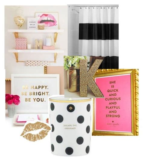 quot kate spade inspired bathroom quot by katiemanlove liked on
