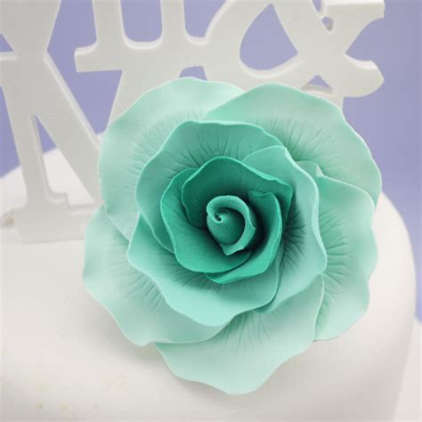 medium vintage aqua tiffany blue rose