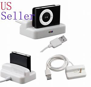 Usb Sync Charger Dock Cradle Holder Stand For Ipod Shuffle