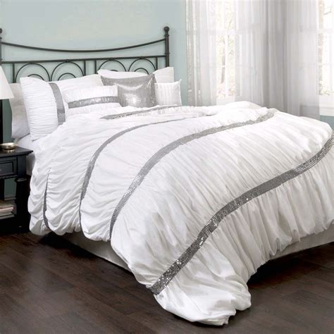 White Comforter Cover by Ruched Bedding