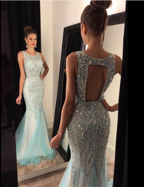 sweetheart girl unique  neck backless sequin