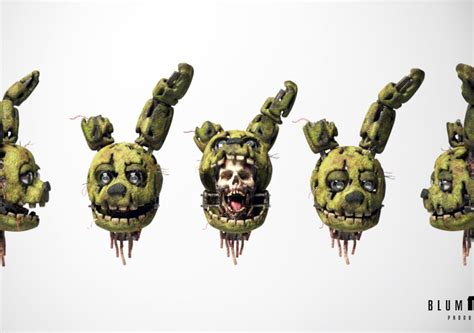 Stylized Springtrap Concept Design. | CGTrader
