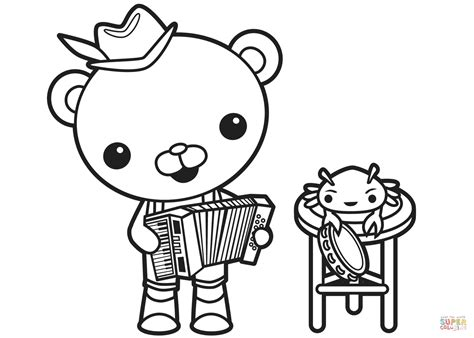 Captain Barnacles Old Time Band Coloring Page