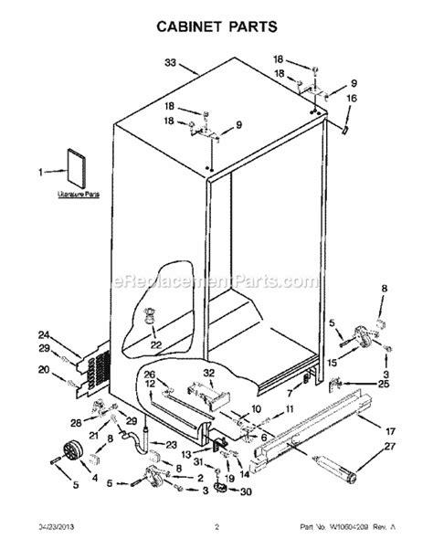 whirlpool wrs325fdam02 parts list and diagram ereplacementparts