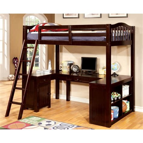 american bunk bed with desk furniture of america franklyn twin loft bed with desk in