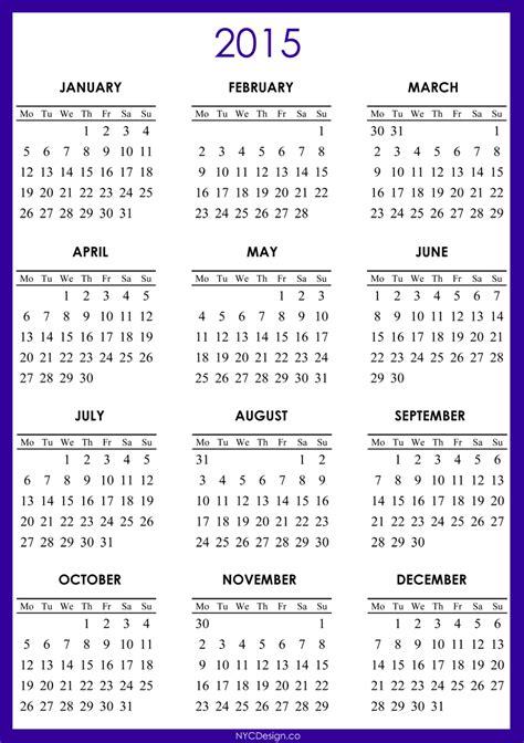 2015 Printable Calendars 2015 Free Calendar Printable Car Interior Design