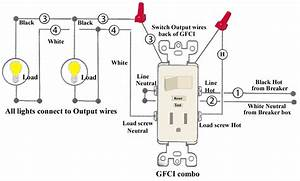 To Light Switch Wiring Diagram For Gfci Schematic