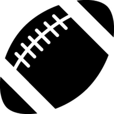 american football vector black and white american football icon free images at clker