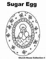 Coloring Egg Sugar Church sketch template